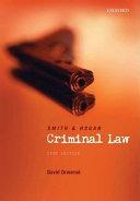 Smith and Hogan Criminal Law