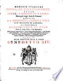 Memorie Storiche Civili  Ed Ecclesiastiche Della Citta  E Diocesi Di Larino