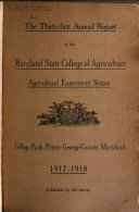 Ebook Report of the Trustees of the Maryland Agricultural Experiment Station to the Governor and General Assembly Epub Maryland Agricultural Experiment Station Apps Read Mobile