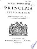 Renati Des cartes Principia Philosophiae