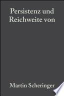 Persistenz Und Reichweite Von Umweltchemikalien book