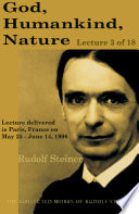 God, Humankind, Nature: Lecture 3 of 18