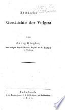 Kritische Geschichte der Vulgata