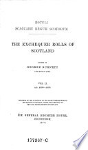The    Exchequer Rolls of Scotland Book PDF