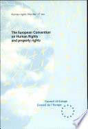 The European Convention on Human Rights and Property Rights