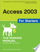 Access 2003 For Starters book