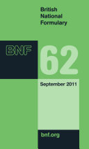British National Formulary 62 : society of great britain. revised twice...