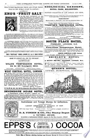 Cook's Australasian Travellers' Gazette and Tourist Advertiser ...