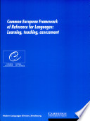 Common European framework of reference for languages   learning  teaching  assessment