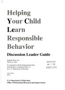 Helping your child learn responsible behavior