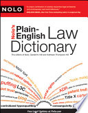 Nolo s Plain English Law Dictionary