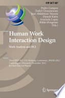 Human Work Interaction Design  Work Analysis and HCI