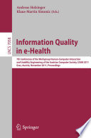 Information Quality in e Health