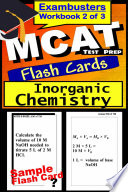 MCAT Test Prep Inorganic Chemistry Review  Exambusters Flash Cards  Workbook 2 of 3