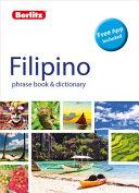 Filipino Berlitz Phrase Book And Dictionary
