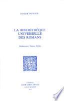 La Biblioth  que universelle des romans