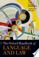 Book The Oxford Handbook of Language and Law