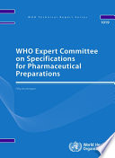 Who Expert Committee On Specifications For Pharmaceutical Preparations