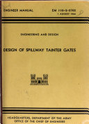 Design of Spillway Tainter Gates