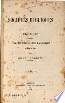 Les sociétés bibliques