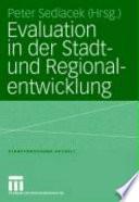 Evaluation in der Stadt- und Regionalentwicklung
