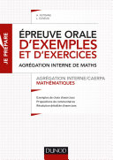 download ebook epreuve orale d\'exemples et d\'exercices - agrégation interne/caerpa mathématiques pdf epub
