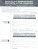 Physical and Thermodynamic Properties of Pure Chemicals