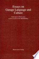 Essays on Gurage Language and Culture