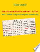 Der Maya-Kalender 900-801 v.Chr