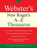 Webster's New Roget's A-z Thesaurus (Custom)