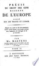 illustration Précis Du Droit Des Gens Moderne De l'Europe Fondé Sur Les Traités Et L'Usage
