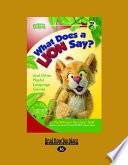 What Does A Lion Say? Pdf/ePub eBook