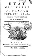 Etat militaire de France pour l'année 1782
