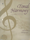 Workbook for Tonal Harmony  with an Introduction to Twentieth century Music