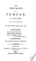 The Triumphs of Temper ... The Eleventh Edition, Corrected. [With Plates.]