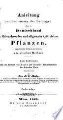 Anleitung zur Bestimmung der Gattungen der in Deutschland wildwachsenden Pflanzen