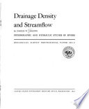Drainage density and streamflow