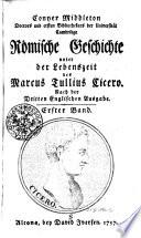 Conyer Middletons Römische Geschichte unter der Lebenszeit des Marcus Tullius Cicero