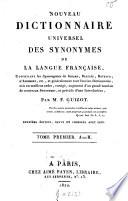 Nouveau dictionnaire universel des synonymes de la langue fran  aise