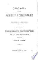 Bibliographie van Noord-Nederlandsche plaatsbeschrijvingen tot het einde der 18e eeuw