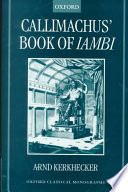 Callimachus  Book of Iambi