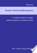 Switching Integrated Suppliers