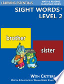 Sight Words Plus Level 2  Sight Words Flash Cards with Critters for Kindergarten   Up