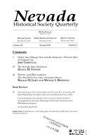 Nevada Historical Society Quarterly