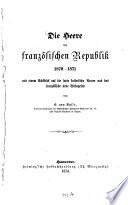 Die Heere Der Französischen Republik 1870 - 1871