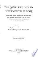 The Complete Indian Housekeeper   Cook