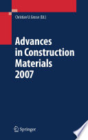 Advances in Construction Materials 2007