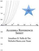 Algebra Reference Sheet