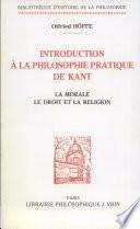 Introduction à la philosophie pratique de Kant