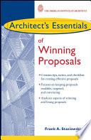 Architect s Essentials of Winning Proposals